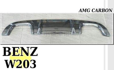 JY MOTOR 車身套件_ BENZ W203 AMG CARBON 卡夢碳纖維 雙孔 W203後下巴