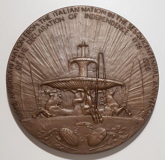 義大利 1926 Italian the Fountain of the Sea Horses Medal.