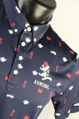 日本進口 Admiral Golf 精品服飾 深藍色連續圖款 (免運) 下單前請先確認尺寸庫存
