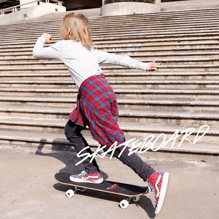 5Cgo【樂趣購】562136098921時尚新款青少年滑板兒童學生初學者青少年男孩女生公路刷街雙翹pu輪四輪雙翹滑板車