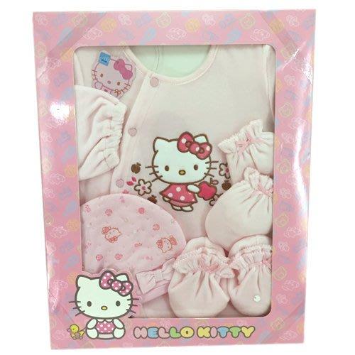 ~日本貨衝衝衝~ 16100100038 禮盒組-KT蘋果粉 三麗鷗 kitty 凱蒂貓 嬰兒服 幼兒衣 台灣製 女寶寶