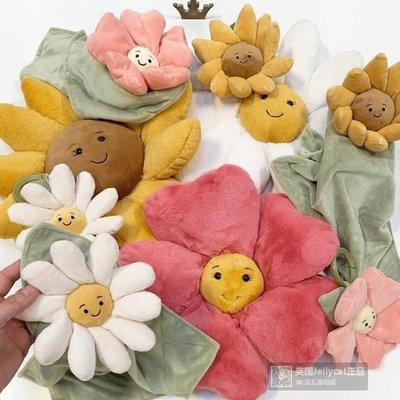 安撫兒童床鈴英國Jellycat寶寶花朵掛環Jitter毛絨玩偶床頭嬰兒車掛件互動玩具