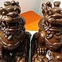 【久榮藝館】波麗( 再生木 非實木) ~ 仿印尼柚木 1對貔貅  聚財貔貅    高約23公分.擺飾
