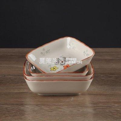 手繪日式陶瓷小菜碟味碟多用蘸料碟調味碟放火鍋調料小碟子醬油碟 @可開統編