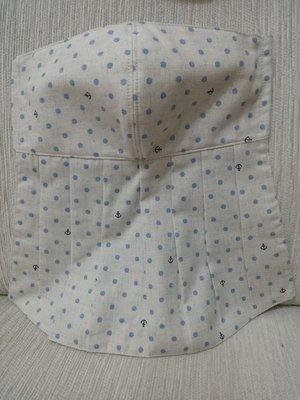 天使熊雜貨小鋪~新純手工日本布立體口罩(藍色海錨點點口罩)大人加長版庫存一個~~原價390