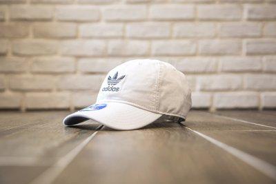 【紐約范特西】現貨 ADIDAS Dad Hat 全白黑色三葉草LOGO 後扣 老帽  海外限定 BR9720