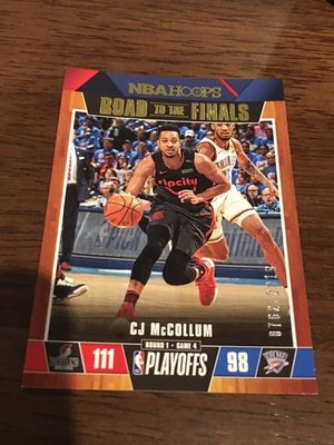 CJ McCollum 季後賽限量 籃球卡 限量 2018張 NBA Hoops 非Prizm