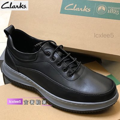 clarks克拉克男鞋夏季新款日常休閒鞋男士系帶皮輕便圓頭牛皮鞋38-44