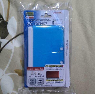 MORI GAMES PC COVER 3DS LL XL 保護殼(全新未拆)清澈湛藍/透明 水晶硬殼