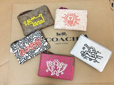 【美國直購】COACH&美國知名藝術家聯名款  普普藝術 Keith Haring 經典手拿包