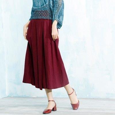 棉麻長裙 半身裙子-優雅氣質高腰造型女裙裝5色73hr38[獨家進口][巴黎精品]