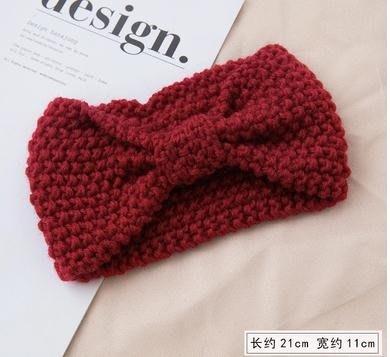 秋冬季網紅針織毛線發帶女寬邊編織發箍超仙頭飾百
