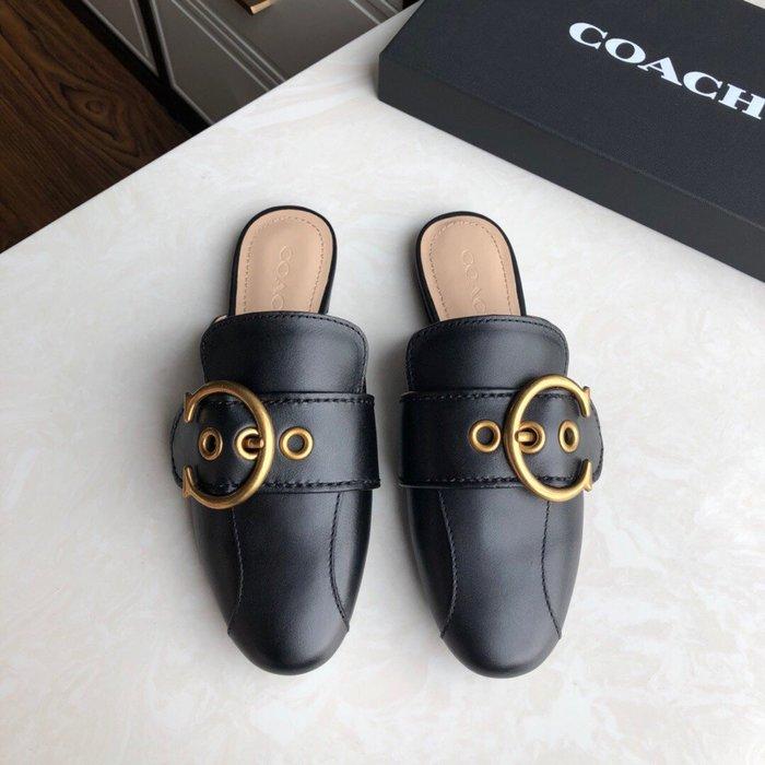 【小黛西歐美代購】COACH 寇馳 2020新款 懶人鞋 黑色 百搭休閒鞋  時尚精品 美國連線代購