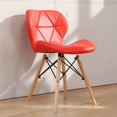 三色時尚皮椅 椅子 實木腳北歐餐椅  吧檯椅 現代 洽談椅 書桌椅 休閒椅 事務椅 事務椅 工作椅 X666