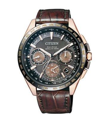 【詢問另有優惠】CITIZEN光動能GPS衛星對時CC9016-01E 鱷魚皮錶帶 限量款 43.5mm台灣星辰保固兩年