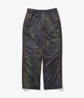 【Hills】直筒 NEEDLES TRACK PANT POLY SMOOTH UNEVEN-DYE PRINTE 紫