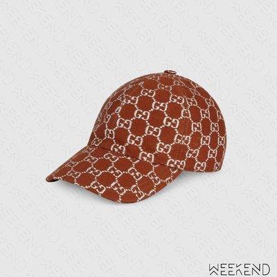 【WEEKEND】 GUCCI GG Logo 銀絲線 棒球帽 鴨舌帽 帽子 咖啡色 男女同款 631953