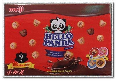 Φ小知足ΦCOSTCO代購 明治貓熊夾心餅乾組 巧克立 草莓 牛奶 雙層巧克力口味 35GX36包 全館合併運費