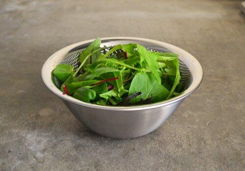 發現花園 日本選物~日本製 柳宗理 不鏽鋼 濾網 濾水盆 篩網 - 16 cm