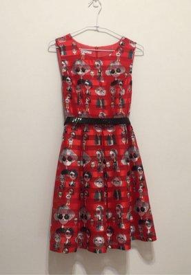 Five Pence 紅色俏麗洋裝(含腰帶)