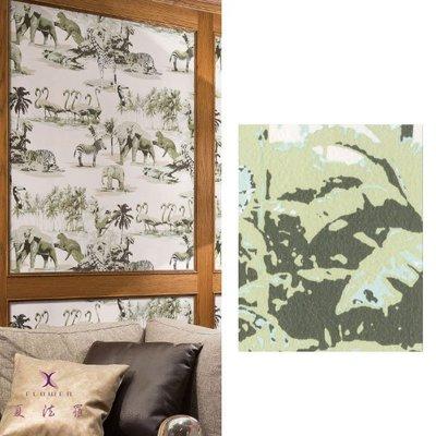 【夏法羅 窗藝】日本進口 質感風 動物圖案 壁紙 BT-190812
