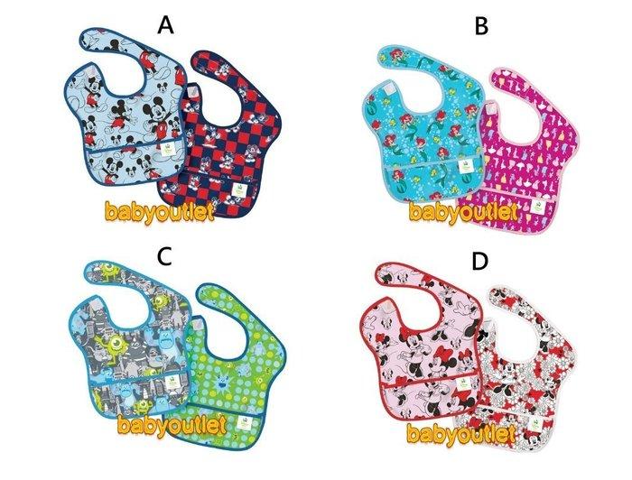 美國 Bumkins Super Bib 防水防臭圍兜口水巾 3個月~2歲 2件組【Baby outlet】