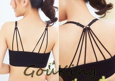 ~Gou king~早春女裝性感降落傘帶胸墊短款背心 2色  新上架2件  現 預