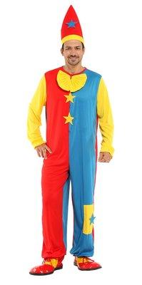 乂世界派對乂萬聖節服裝,萬聖節道具,變裝派對,大人變裝服-成人小丑服裝/淘氣紅藍小丑