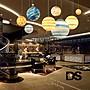 DS北歐家飾§彩繪玻璃燈罩 35CM 星球造型吊...