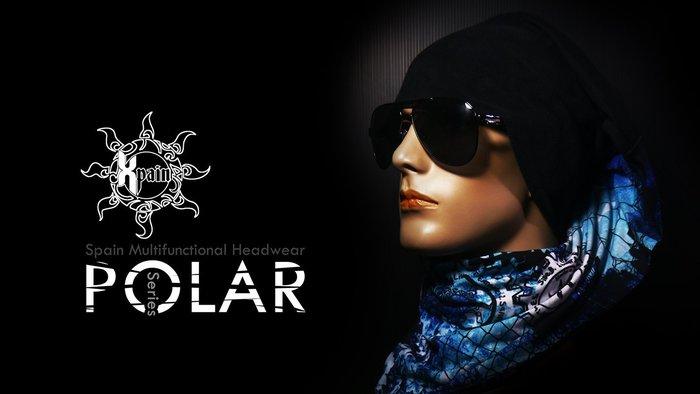 SPAIN POLAR HEADWEAR 西班牙極地款多功能頭巾 賞雪 登山 滑雪  禦寒必備 圍巾 領巾 絲巾 可參考