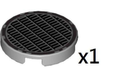 Lego 淺灰色圓形平磚(網格圖案) Light Bluish Gray Tile, Round 2 x 2 with Pattern (4150ps4) 1pcs