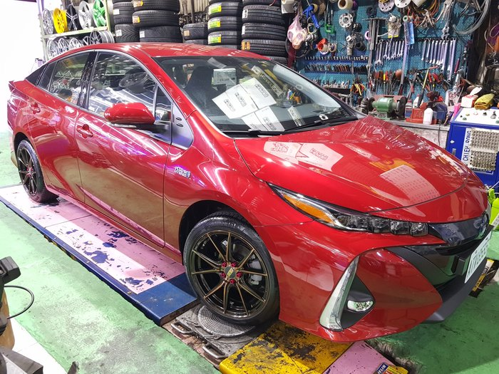 TOYOTA 17吋輕量化鋁圈 ALTIS 炫壓鍛造 TOYOTA Prius PHV 電動車 5X100 8J