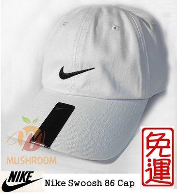 全新 現貨 NIKE SWOOSH 86 純棉 薄款 棒球帽 帽子 老帽 可調式 運動帽 遮陽 高爾夫球帽 基本 白色