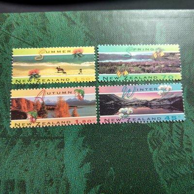 【大三元】紐澳郵票-052紐西蘭 夏天-新票6全1套-原膠上品