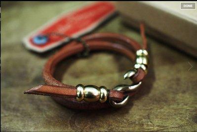 [ Satisfaction ] { DEUCE & CO.}---雙圈黃銅金具鉤手環