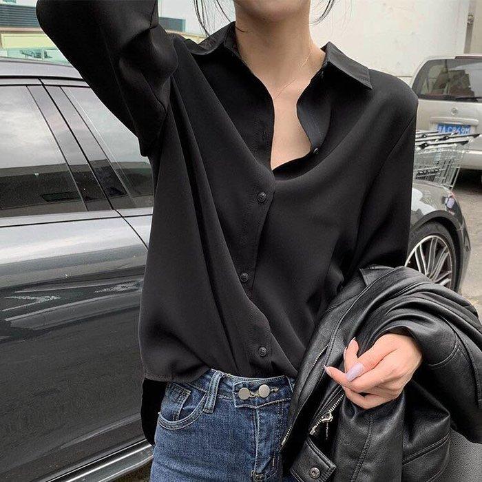 Black Market 實拍韓版寬鬆氣質百搭時尚休閒襯衫(預購)