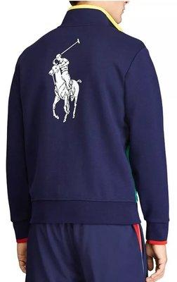 Polo Ralph Lauren 大馬 立領外套 成人款 藍色 US OPEN