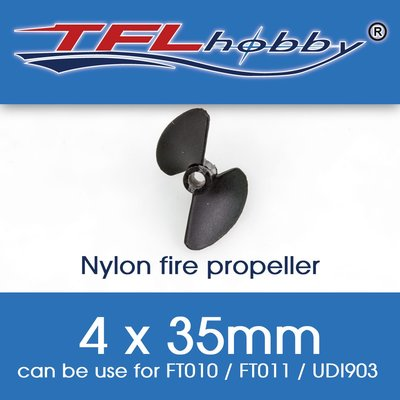 全新 TFL Hobby 尼龍螺旋槳 4 x 35mm 遙控快艇/遙控船 Nylon Fire Propeller FT010/FT011/UDI903適用