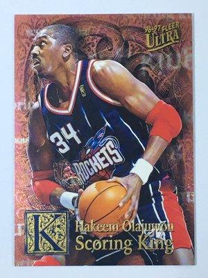 1996-97 Fleer Ultra Scoring King Plus #10 Hakeem Olajuwon