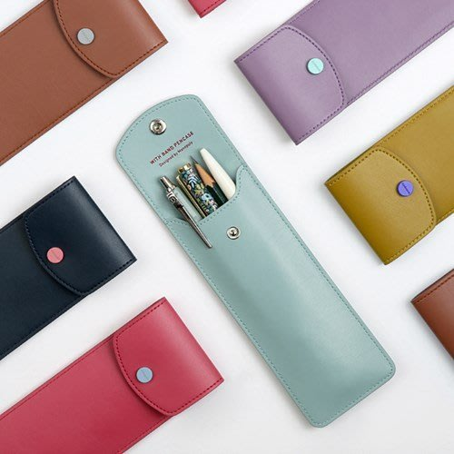 好心情日韓正品雜貨『韓國monopoly』WITH BAND PENCASE 綁帶筆袋~可套在筆記本手帳上(6款)