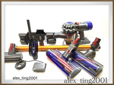 現貨  Dyson V8 Absolute +手持工具組 10吸頭 豪華旗艦版 (Motorhead +fluffy ) 非 V10