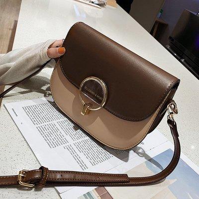 格薇GEWE 高級感包包女2019新款潮韓版百搭單肩斜挎時尚撞色質感洋氣小方包