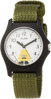 日本正版 SEIKO 精工 ALBA AQGS014 便便漢字教材 兒童錶 手錶  日本代購