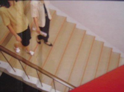 美的磚家~南亞樓梯止滑板紅色綠色灰色淺棕色卡其色塑膠地磚塑膠地板 止滑,吸音效果 美觀耐用45cmx10尺每尺90元