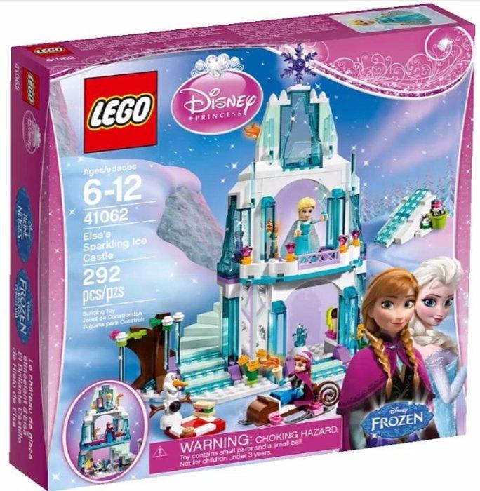 限量特價【LEGO 樂高 】全新正品 益智玩具 積木/公主系列:艾莎的閃亮冰雪城堡41062 冰雪奇緣 安娜 雪寶