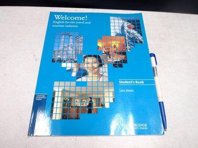 【考試院二手書】《Welcome》ISBN:0521479002│Cambridge University(11F12)