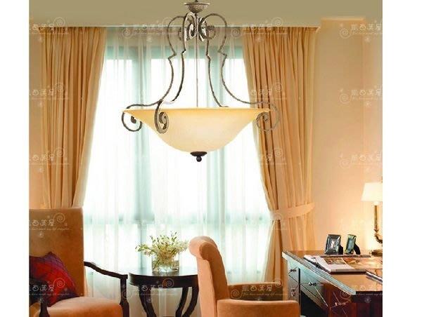 凱西美屋 氣質優雅歐風復古鐵鐵吊燈 3燈 鄉村鍛鐵吊燈 民宿款