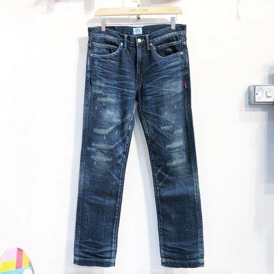 【希望商店】WTAPS BLUES VERY SKINNY TRASH 13SS 刀割 破壞 牛仔褲