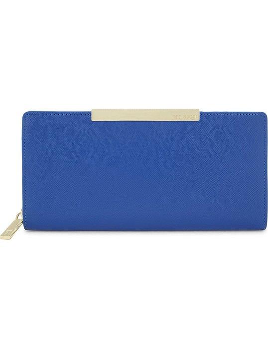 現貨 Ted Baker 藍色長皮夾 英國正品代購 大減價!