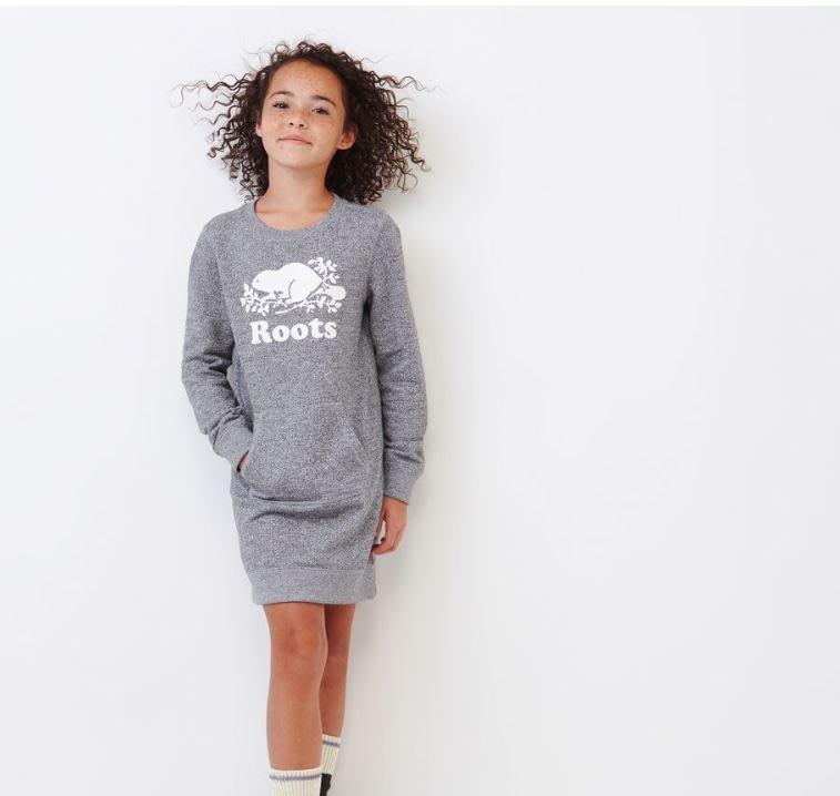 ~☆.•°莎莎~*~☆~~加拿大 ROOTS Girls Cooper Beaver Dress 童裝